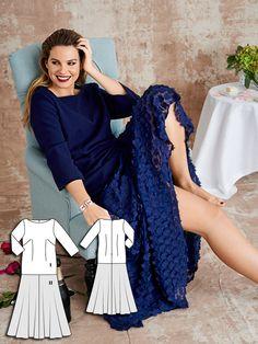 Drop Waist Maxi Dress (Plus Size) 03/2016 #132 http://www.burdastyle.com/pattern_store/patterns/drop-waist-maxi-dress-plus-size-032016?utm_source=burdastyle.com&utm_medium=referral&utm_campaign=bs-tta-bl-160310-WeddedBliss132