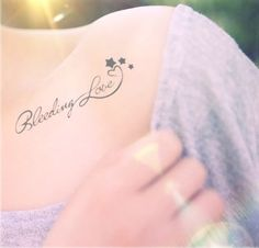 2pcs Bleeding Love tattoo  InknArt Temporary Tattoo  by InknArt, $3.99