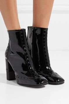 Chloé | Perry patent-leather ankle boots | NET-A-PORTER.COM
