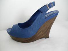 JESSICA SIMPSON NEW Blue Platforms Heels Size 7 #JessicaSimpson #Slingbacks