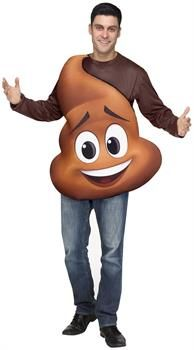 PartyBell.com - Sony's The Emoji Movie Poop Jr. Tunic Adult Costume