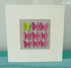 Easy Adorable Butterfly Art at The Happy Housie pink and lime
