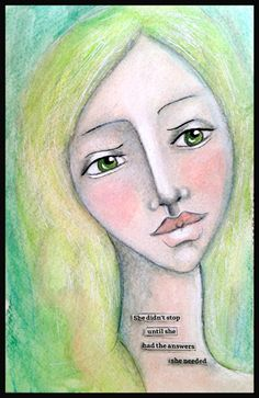 Simple portrait colored with watercolor crayons, acrylic paint and shaded with graphite pencil. Simple Portrait, Face Art, Art Instructions, Mixed Media Faces, Art, My Arts, Art Journal Prompts, Watercolor Journal, Art Journal Cover