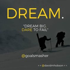 Double-tap if you agree!  But let me add to this.  This is easy to say.  Its even easy to do when you are younger.  And hey if thats you - freaking awesome.  You feel bulletproof.  Go for it.  Dream big dare to fail.  Seriously.  But to anyone out there who has tried and failed.  Who has taken a hit who now has some responsibilities this kind of a quote has a new meaning.  So easy to get all rah rah go entrepreneurs with this new thing thats been going on.  Aint always so easy to do.  But do…