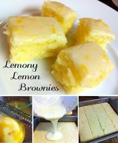 Lemony Lemon Brownies - 3/4 cup all-purpose flour {King Arthur All-Purpose Flour} 3/4 cup granulated sugar 1/4 teaspoon salt {Sea Salt} 1/2 cup (1 stick) unsalted butter, softened 2 large eggs 2 tablespoons lemon zest 2 tablespoons lemon juice    For the tart lemon glaze:  4 tbsps lemon juice 8 tsps lemon zest 1 cup icing sugar