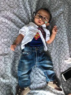 Clark Kent for Halloween 2018 Clark Kent, Halloween 2018, Trick Or Treat, Costumes, Dress Up Clothes, Fancy Dress, Men's Costumes, Suits