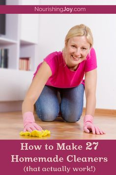 Avoid toxic cleaners by making your own - that really work!