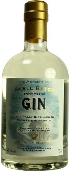 Gin von Secret Treasures in der 0,7 l Flasche mit 45,5 % vol. Alc.