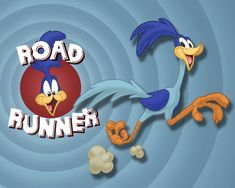 Road Runner... not yet on tv  ...soooo fun to see these delightful cartoons before movies at the theater... which by the way cost 35-cents for admission