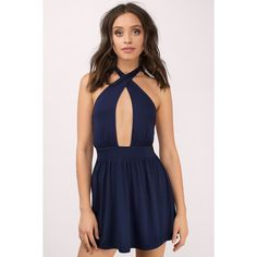 Navy Blue Dresses ❤ liked on Polyvore featuring dresses, sexy dresses, going out dresses, sexy night out dresses, navy dresses and night out dresses