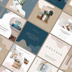 Solveig Social Media Templates by Pixelbuddha on Dribbble Graphisches Design, Social Media Design, Book Design, Layout Design, Nail Design, Social Media Branding, Social Media Banner, Social Media Template, Social Media Graphics
