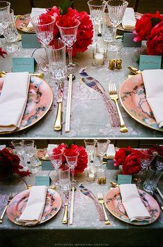 A maravilhosa mesa de jantar no Baile do Met 2015