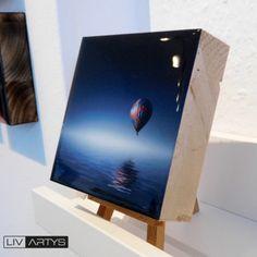 """Wandbild: """"Ballonfahrt"""" Foto auf Holz in Galerie-Qualität von Livartys Hochwertiges Fotogeschenk auf einer Massivholzplatte von…"""