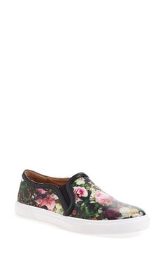 Free shipping and returns on Halogen® 'Turner' Slip-On Sneaker (Women) at Nordstrom.com. Lush, photorealistic flowers style a chic low-top slip-on edged in sleek leather piping and set on a sporty bumper sole.