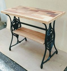 Home Decorators Collection Lighting Diy Furniture Projects, Repurposed Furniture, Rustic Furniture, Furniture Makeover, Painted Furniture, Singer Table, Singer Sewing Tables, Antique Sewing Machine Table, Antique Sewing Machines