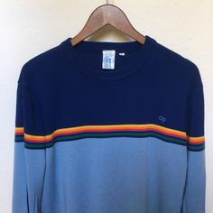 Vintage striped ski sweater OP Ocean Pacific by twinflamesboutique
