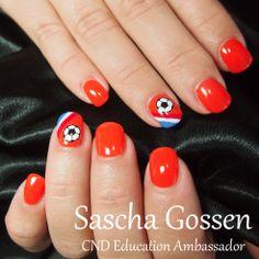 Hup Holland Hup! #CND #CNDEA #CNDWorld #Shellac #CNDShellac #soccer #soccernails #nails #nailart #naildesign #stamps #stampingnailart #handpainting #electricorange #creampuff  #WK #WKnails #Holland #Dutchnails #wildfire