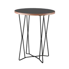 We love this playful modern Geometric End Table. Matching the Geometric Median Table, this end table also has a clean-cut black melamine veneer surface with a natural layered edge, all supported by a s...  Find the Geometric End Table, as seen in the Photographer's Loft Collection at http://dotandbo.com/collections/photographers-loft?utm_source=pinterest&utm_medium=organic&db_sku=ADE0034