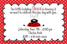 Ladybug 2nd birthday invitation wording font rsvp ladybug ladybug red white polka dot 2nd birthday wording stopboris Gallery