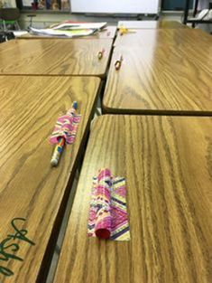 One at my school has solved the problem: cut straws then duct tape them to the desk. no more pencils rolling around. One at my school has solved the problem: cut straws then duct tape them to the desk. no more pencils rolling around. Classroom Hacks, Classroom Organisation, Classroom Setting, Teacher Organization, Classroom Design, Kindergarten Classroom, Future Classroom, School Classroom, Classroom Management