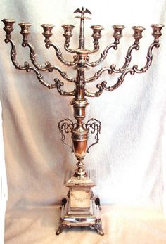 $20,000 menorah from 1847  sterling silver