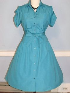 80s  rockabilly shirt dress