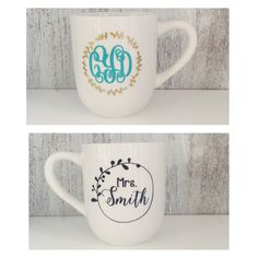 Personalized Coffee Mug with Name or Monogram