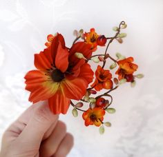 fall wedding, hair clip, autumn wedding, fall flower, hair accessory