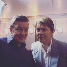 DAVID BOWIE WITH RICKY GERVAIS …