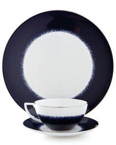 Navy Fringe dinnerware by Jasper Conran at Wedgwood; wedgwood.com.