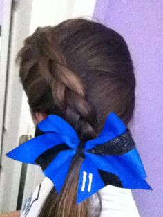 Side French braid- my softball hair