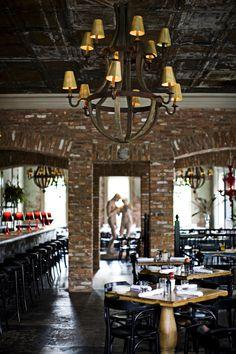 Gorgeous restaurant tables. Perish in Atlanta Ga.