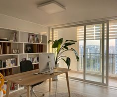 Korean Apartment Interior, Japanese Apartment, Apartment Interior Design, Kitchen Interior, Home Room Design, House Design, Design Kitchen, Living Room Korean Style, Minimal Apartment