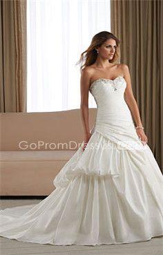 I love a good drop waist ball gown wedding dress... But with more bling