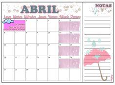 #Abril #2015 #Printable #Free (1) #con #notas