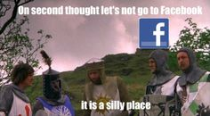 Monty Python and the Holy Grail.'Tis a Silly Place! Go To Facebook, Funny Jokes, Hilarious, It's Funny, Silly Games, England Fans, Monty Python, Dark Souls, Funny People