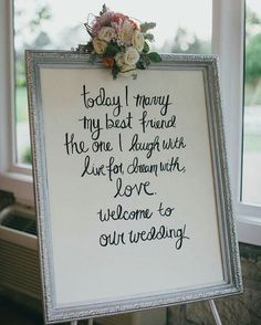 Would love this wording on a blackboard by the entrance to the great Hall at Pencoed House on our wedding day <3