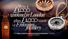 We are running a #competition where you can win a trip to #London and #£1,000 worth of #Emozioni #HotDiamonds #Jewellery. Enter now: www.facebook.com/EmozioniHotDiamonds #Silver #Diamonds