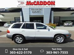 2003 *Hyundai*  *Santa* *Fe*   122k miles $5,268 122039 miles 303-622-5170 Transmission: Automatic  #Hyundai #Santa Fe #used #cars #McCaddonCadillacBuickGMC #Boulder #CO #tapcars
