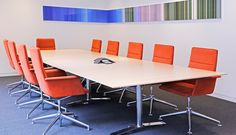 Colour spectrums in office meeting rooms Office Furniture Design, Office Meeting, Meeting Rooms, Bespoke Furniture, Joinery, Color Trends, Flooring, Table, Colour