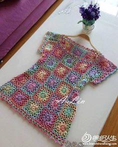 Blusa de Grannies a Crochet
