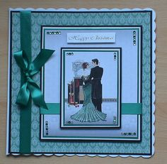 #makingcards   A stunning card made using the free papers and toppers from my making card magazine,I used adhesive gems and ribbon from my crafty stash to decorate.