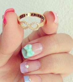 Infinity rings and cute nail jewels