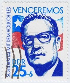 Salvador Allende 29th President of Chile, circa 1983