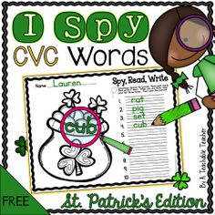 FREE CVC activity for St. Patrick's Day