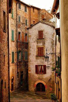 Medieval village of Anghiri, Tuscany, Italy