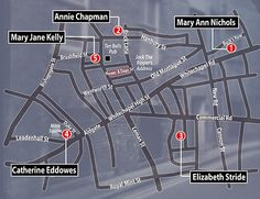 The five murders committed by Jack the Ripper in Whitechapel. An investigation by criminol...