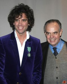 mika and frederic mitterrand when Mika got knighted