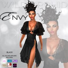 Wild Orchid Envy Black (Appliers Included!)