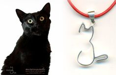 Our cat is a jewel!   Artisan unisex MiMiga design cat pendant in silver. www.mimiga.es/en/cat-jewellery-in-silver/